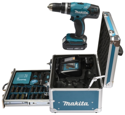 makita dhp453rfx2 akku schlagbohrschrauber 18v 3 0ah. Black Bedroom Furniture Sets. Home Design Ideas